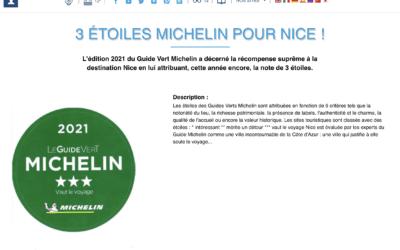 Le Guide Vert Michelin aime Nice
